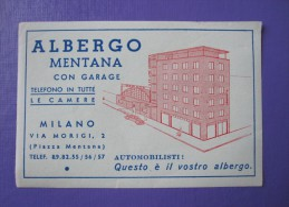 HOTEL ALBERGO PENSIONE MENTANA MILANO ITALIA ITALY TAG DECAL STICKER LUGGAGE LABEL ETIQUETTE AUFKLEBER