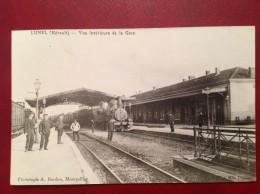 34 Herault LUNEL Train Vue Intérieure De La Gare - Lunel