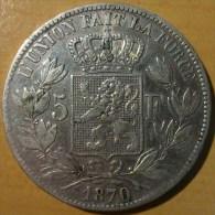 5 FRANCS BELGE 1870 - 1865-1909: Leopold II