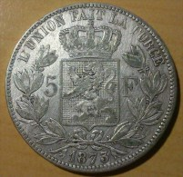 5 FRANCS BELGE 1873 (1) - 1865-1909: Leopold II