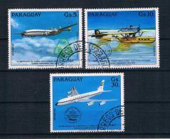 Paraguay 1984 Flugzeuge Mi.Nr. 3786/88 Kpl. Satz Gestempelt - Paraguay