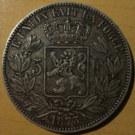 5 FRANCS BELGE 1873 (2) - 1865-1909: Leopold II