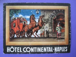 HOTEL ALBERGO PENSIONE CONTINENTAL NAPLES NAPOLI ITALIA ITALY TAG DECAL STICKER LUGGAGE LABEL ETIQUETTE AUFKLEBER