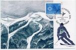 YUGOSLAVIA 1984 Winter Olympics Obligatory Tax On Maximum Card. - Maximum Cards