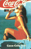 COCA-COLA * SOFT DRINK * WOMAN * GIRL * SEXY * EROTIC * BUDAPEST * CALENDAR * BLV 1989 * Hungary - Calendarios