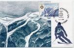YUGOSLAVIA 1984 Winter Olympics 4d On Maximum Card..  Michel 2008 - Maximum Cards