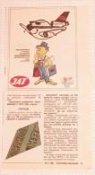 JAT Yugoslavia Air Transport AIRLINES AIR LINE COMPANY COMPAGNIE AÉRIENNE CARGO (prize Raffle, Tombola Game) - Publicités