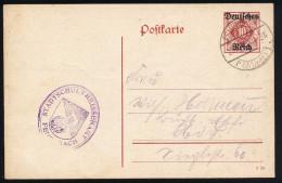 A2953) DR Dienstkarte Mi.DP11 I Von Feuerbach 22.4.1920 Gebraucht - Dienstpost