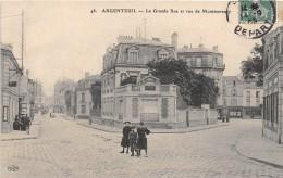 CPA 95 ARGENTEUIL LA GRANDE RUE ET RUE DE MONTMORENCY - Argenteuil