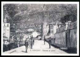 SAINT VINCENT (AO) - Entrata Al Paese - Cartolina Non Viaggiata Come Da Scansione. - Other Cities