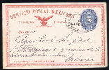 A2955) Mexico Postal Card From 1892 Used - Mexiko