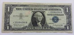 STATI UNITI 1 DOLLARO SERIE 1957B  *ASTERISCO*  VF - Certificats D'Argent (1928-1957)