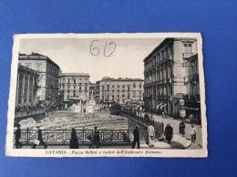 CATANIA - Piazza Bellini e ruderi dell'Anfiteatro Romano, animata - cartolina FP V 1933