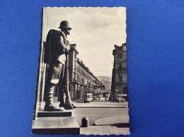 TORINO - Via Po, Monumento, Tram - Cartolina FG BN V 1940? - Italia