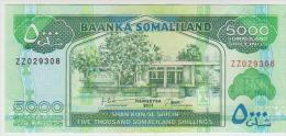 Somaliland 5000 Shillings 2011 Pick 21 Replacement UNC - Somalia