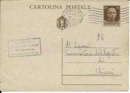 CPC80.108 -INTERO POSTALE - C80 - CARTOLINA IMPERIALE - VIAGGIATA DA BRESCIA A CHIARI - 1900-44 Vittorio Emanuele III