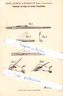 Original Patent  - B. Schmitz In Ründeroth B. Engelskirchen , Krs. Gummersbach , 1883 , Federhalter Mit Flügel  !!! - Penne
