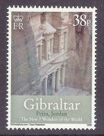 Gibraltar 2008 The New Seven Wonders Of The World - 7 Merveilles Du Monde, Petra (Jordan) MNH - Gibraltar