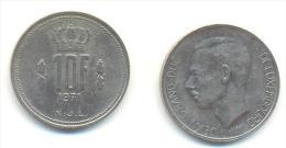 LUSSEMBURGO  10 FRANCHI ANNO 1971 - Lussemburgo