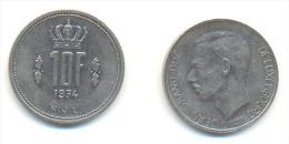 LUSSEMBURGO  10 FRANCHI ANNO 1974 - Lussemburgo