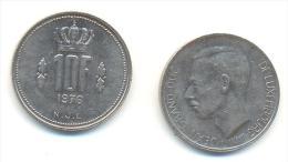 LUSSEMBURGO  10 FRANCHI ANNO 1976 - Lussemburgo