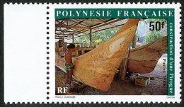 POLYNESIE 1986 - Yv. 267 ** SUP Bdf  Cote= 1,70 EUR - Construction D´une Pirogue ..Réf.POL21795 - Französisch-Polynesien