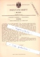 Original Patent  - Johann Bammes In Nürnberg , 1883 , Aufzug Für Kreisel , Brummkreisel , Spielzeug !!! - Antikspielzeug