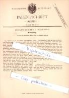 Original Patent  - Johann Bammes In Nürnberg , 1883 , Aufzug Für Kreisel , Brummkreisel , Spielzeug !!! - Toy Memorabilia