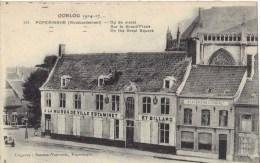 POPERINGHE    1914/ 17   BOMBARDEMENT     op de markt
