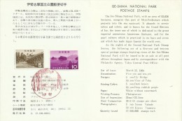 Japan 1964 Ise-ShimaQuasi-National Park, First Day Card - FDC