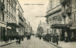 CPA 84 AVIGNON RUE DE LA REPUBLIQUE 1915 - Avignon
