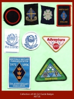 A9718  Collection X9 UK Girl Guide Badges - Scouting