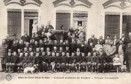 CÔTE D'OR 21 CREPEY COLONIE DE SCOLAIRE ECOLES LAÏQUES GROUPE D'ENFANTS AVEC UNIFORME   ENCADREMENT PETIT CHIEN - France
