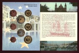 Malte - Essai Des 8 Pièces En Euro De 2004  - Sous Blister D´origine - Voir Les 4 Scannes - Essais Privés / Non-officiels