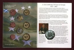 Royaume-Uni  - Essai Des 8 Pièces En Euro De 2003  - Sous Blister D´origine - Voir Les 4 Scannes - Essais Privés / Non-officiels