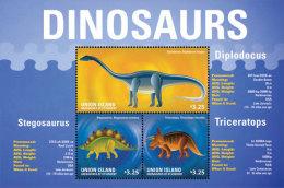 Union Islands Grenadines Of St. Vincent-2014-Dinosaurs-Pr Ehistoric - St.Vincent & Grenadines