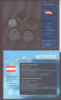 AUTRICHE -  5 Dernières Monnaies En Schilling Avant Le Passage à L'euro  - Sous Blister - Voir Les 2 Scannes - Autriche