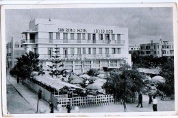 AK PALÄSTINA PALESTINA  SAN REMO HOTEL FOTOGRAFIE  ALTE POSTKARTE 1946 - Palestine