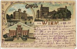 Gruss Aus Wien 1900 P. Used Nans Nachbargauer No 743 Bahnhof Gare Station To Pesmes Haute Saone - Autres