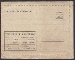 ADVERTISING - Stollwerck Chocolate, Cacao - Bratislava, Pozsony, Pressburg  Pictures - Cioccolato