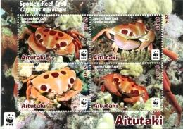 ait1403s1 Aitutaki 2014 WWF Spotted Reef Crab s/s