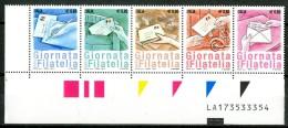 ITALIA / ITALY 2014** - Giornata Della Filatelia - Striscia Di 5 Val. MNH Con Codice Alfanumerico Come Da Scansione - 2011-...:  Nuevos