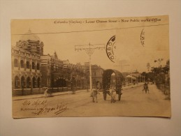 Carte Postale - SRI LANKA (Asie ) - COLOMBO (Ceylon) - Lower Chatam Street Now Public Works Office  (248) - Postales