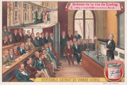 CHROMO LIEBIG SERIE SCENES DE LA VIE DE LIEBIG / LIEBIG A L'AMPHITHETARE DE CHIMIE A MUNICH - Liebig
