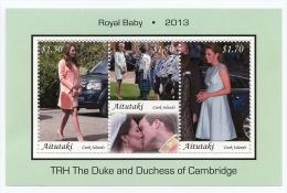 ait1303s1 Aitutaki 2013 Royal Baby Birth of Prince George of Cambridge s/s Car Scott:613