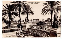 NICE  Les Jardins Et Les Terrasses  Carte En Très Bon état écrite Timbrée Animée - Parques, Jardines
