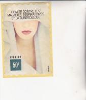 VIGNETTE GRAND FORMAT COMITE CONTRE LA TUBERCULOSE -1988-89 - Erinnofilia