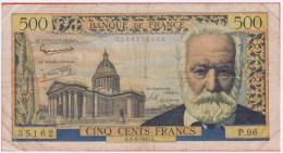 BILLET - 500 Francs VICTOR HUGO Du 06 02 1958 En TB+ - 1871-1952 Circulated During XXth