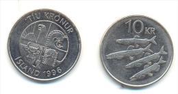 ISLANDA  10 Kronur 1996 - Islanda
