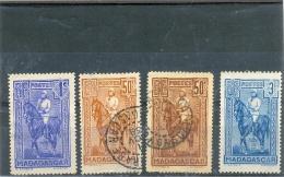 1931 1936 1939 MADAGASCAR Y & T N° 183 184 190 214  ( O ) 4 Différents - Madagascar (1889-1960)